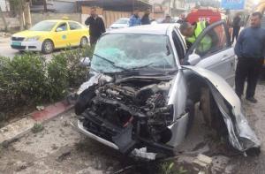 إصابة 8 مواطنين في حادث سير شرق طولكرم