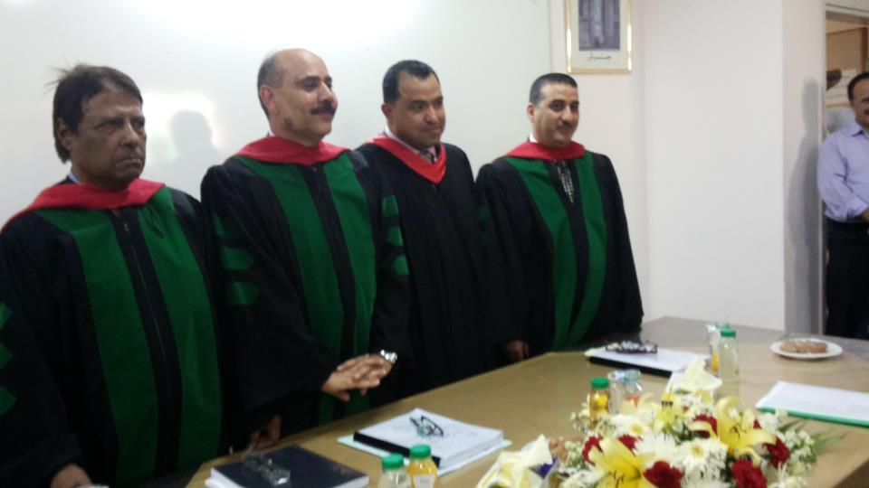 درجة الماجستير في الصحافة والاعلام للزميل عبد الرؤوف غنيمات