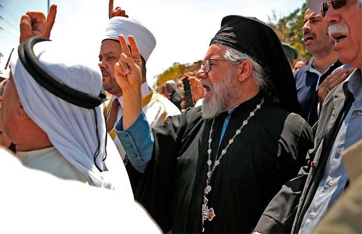 فلسطينيون يواصلون التضامن مع أهالي الخان الأحمر رفضا لمخططات الاحتلال