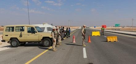 القوات المسلحة تواصل تنفيذ خطة فرض الحظر الشامل في كافة المحافظات