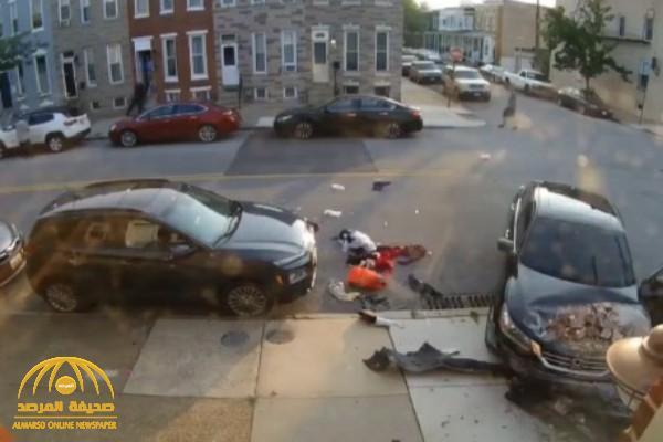 فيديو صادم ..  أمريكية تحاول دهس زوجها بسيارتها أكثر من مرة