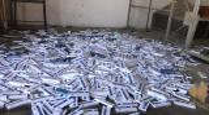 احباط  تهريب ١١٣٠٠ كروز دخان مهرب اخفيت بطريقة سرية داخل إحدى مركبات الشحن في معبر حدود جابر