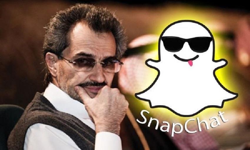 """تعرف على حصة الوليد بن طلال في تطبيق """"سناب شات"""" ؟"""