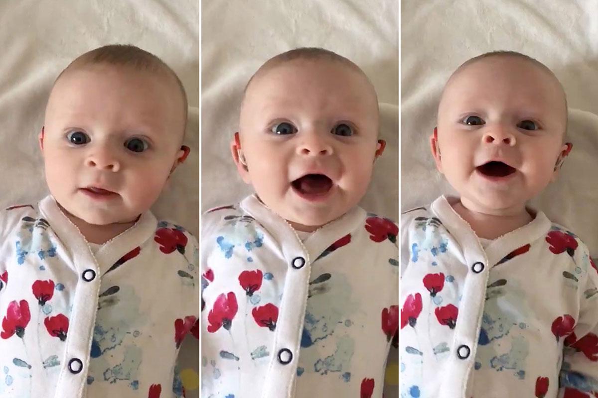 """""""تستطيع أن تسمعني!"""" فيديو لطفلة صماء يلقى انتشارا واسعاً في بريطانيا"""