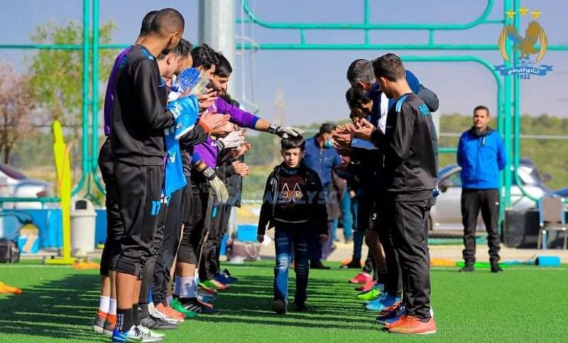 """النادي الفيصلي يلبي أمنية الطفل """"سند العبادي""""  ..  ماذا طلب؟  ..  صور"""