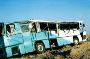 مصرع 33 وإصابة 41 في تصادم حافلتين بسيناء المصرية