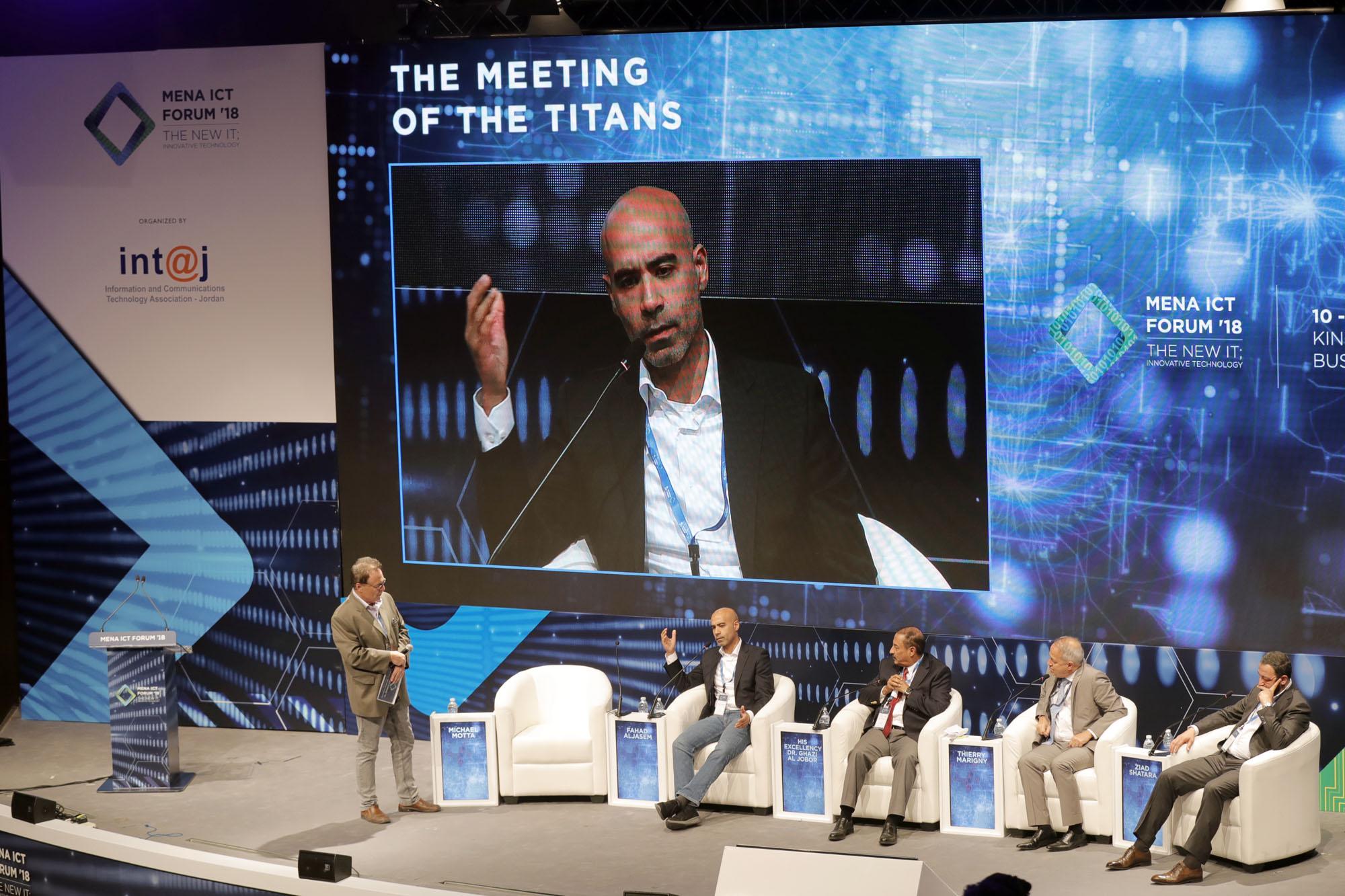 الجاسم يشارك في الجلسة الختامية لمنتدى الاتصالات وتكنولوجيا المعلومات لمنطقة الشرق الأوسط وشمال افريقيا MENA ICT 2018