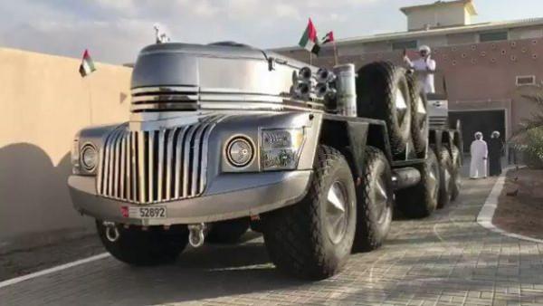 بالصور : أغرب سيارة يمتلكها أحد أعضاء الأسرة الحاكمة في الإمارات