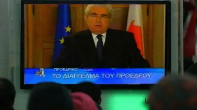 قناة قبرصية تبث كلمة رئيس سابق للتهنئة بـ2014 خطأً