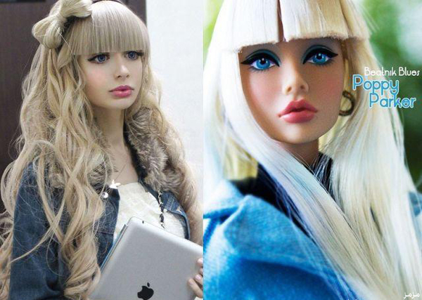 فتاة روسية بملامحها الطبيعية نسخة عن باربي..صور
