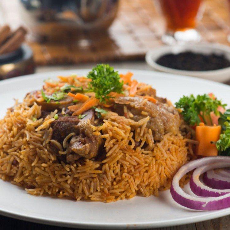 الأرز البخاري باللحم