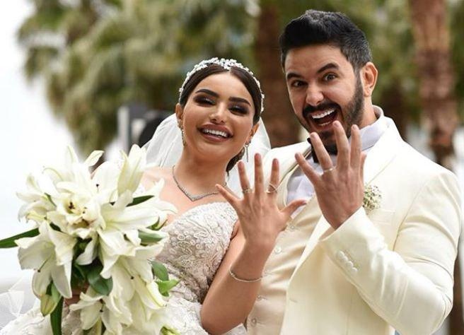 بالصور ..  هيفاء حسوني تحتفل بزفافها على الطريقة العراقية