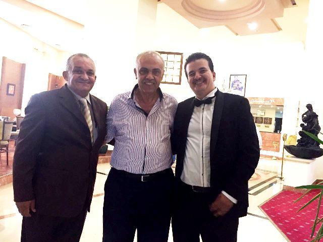 تهنئة وتبريك من نادي الارينا الرياضي للكابتن احمد سعادة بمناسبة حفل زفافه