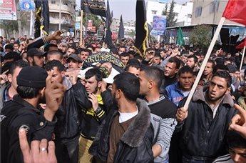 تشيع جثمان الشهيدين مصعب و شريف في غزة