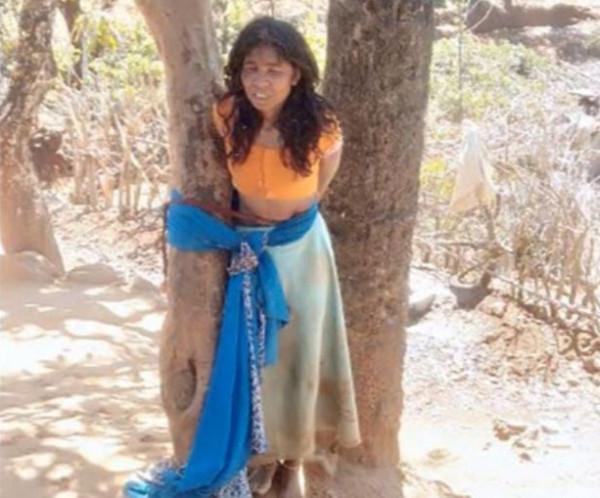 صور مُروعة ..  سيدة تذبح ابنة شقيقة زوجها أمام أختها  في الهند
