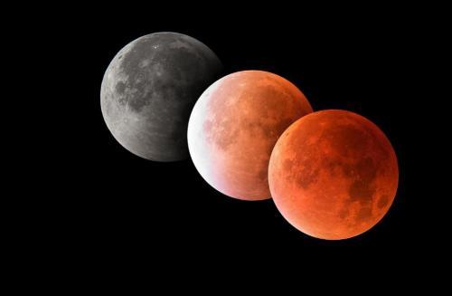 العالم يشهد اليوم خسوف القمر الوحيد خلال 2019