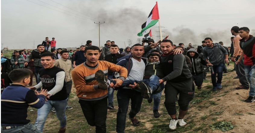 استشهاد 5 فلسطينيين وإصابة العشرات برصاص إسرائيلي قرب حدود غزة
