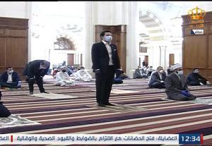 ولي العهد الأمير الحسين بن عبدالله الثاني يؤدي صلاة الجمعة من مسجد الملك حسين
