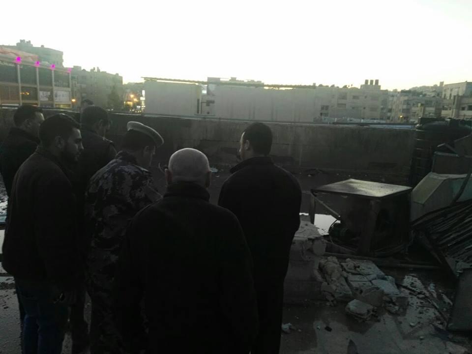 الزرقاء: اصابة شخص بانفجار اسطوانة غاز داخل نادي رياضي بالقرب من سامح مول بشارع الـ36