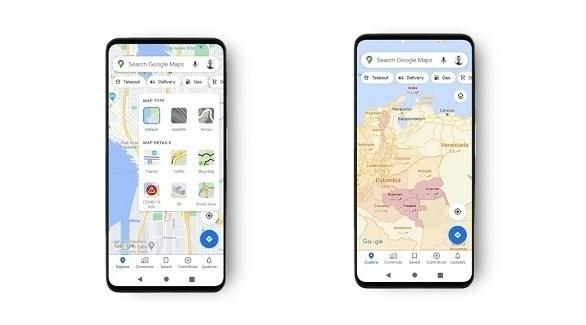 تحديث لخرائط غوغل لتحديد المناطق الآمنة من كورونا