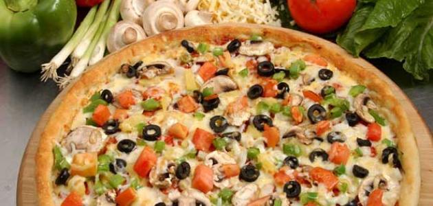 طريقة عمل البيتزا الصيامي