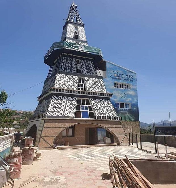 جدل في الجزائر حول منزل صمّم على شكل برج إيفل!