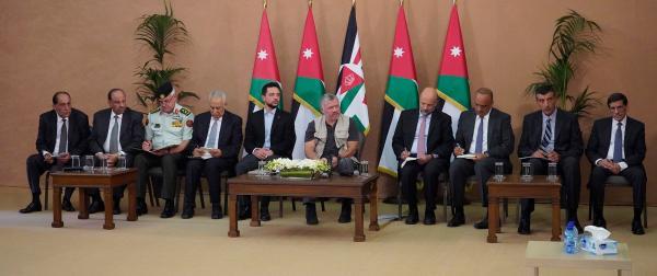 الملك يناقش مع مجالس عجلون المنتخبة الخطة التنموية