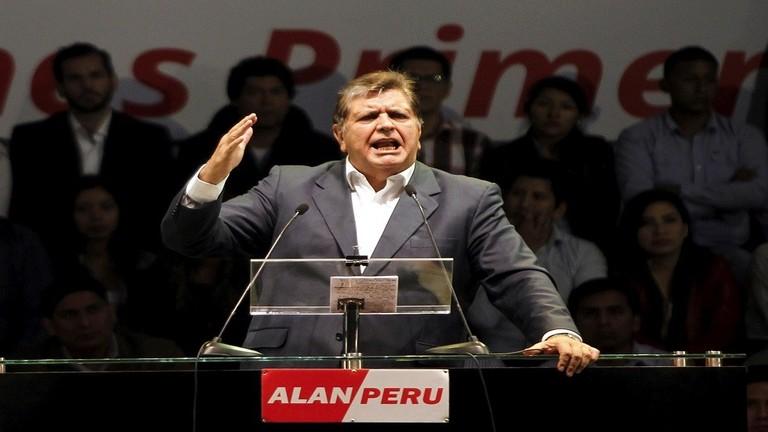 """رسالة رئيس بيرو قبيل انتحاره : """"أترك لأبنائي شرف القرارات التي اخذتها"""""""