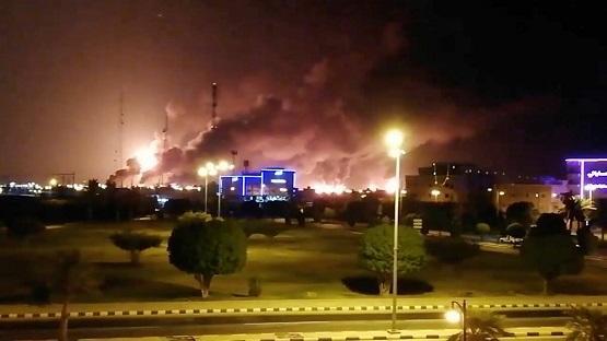 السعودية: حريق بخزان للوقود نتيجة اعتداء إرھابي