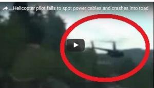 بالفيديو: سقوط مروحية وسط طريق سريعة في الصين