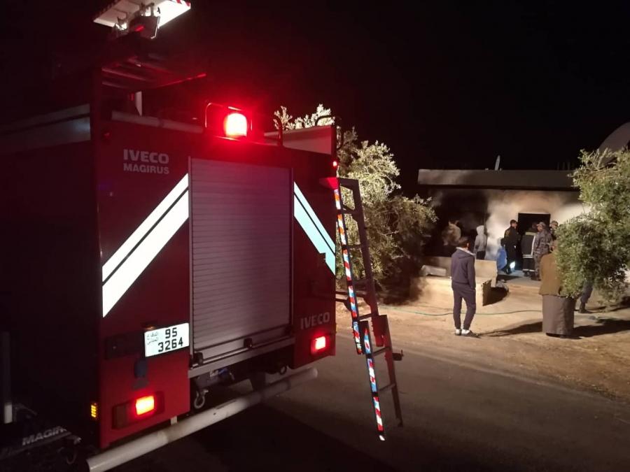 وفاة سيدة تسعينية  إثر حريق منزل في محافظة الزرقاء
