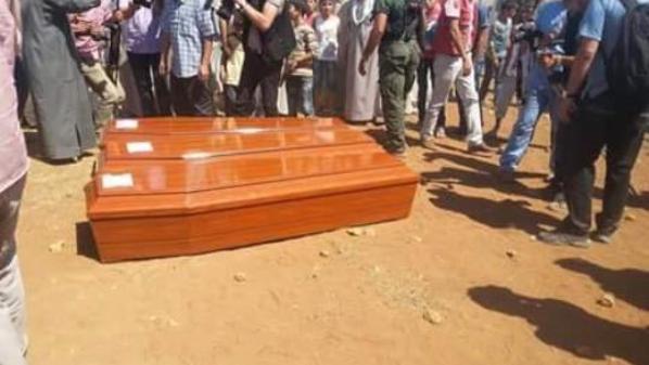المئات يشيعون الطفل الغريق ووالدته في كوباني