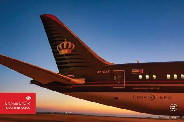 خصومات للمسافرين الذين يستخدمون تطبيق الملكية الأردنية  على الهواتف الذكية