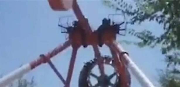 بالفيديو :حادثة مروعة ..  مقتل فتاة بانهيار لعبة في مدينة ملاهي