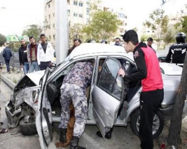 عمان : إصابة (8) أشخاص اثر حادث تصادم في ناعور