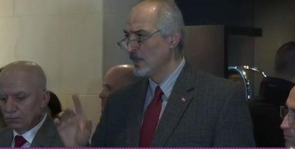رئيس وفد النظام السوري يتهكم على القرآن الكريم في محادثات جنيف