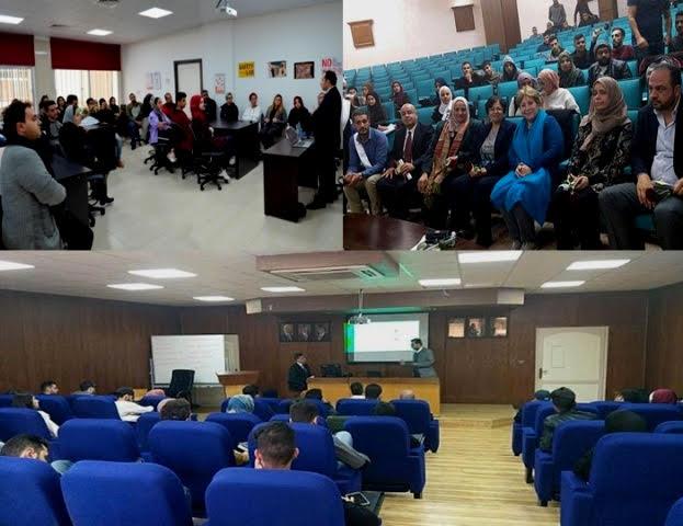 محاضرات وفعاليات طلابية بكليتي التمريض والاعمال وبقسم البصريات بجامعة عمان الاهلية