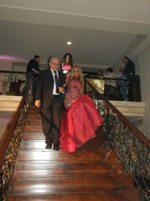 بالصور .. ميكاييلا تحتفل مع معين شريف بعيد الحب
