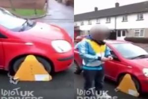 بالفيديو.. احتجزت سيارته بسبب الضرائب فقام بتحطيمها