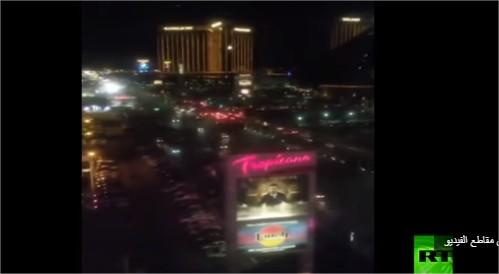 بالفيديو :شهود يرصدون لحظة بدء هجوم لاس فيغاس