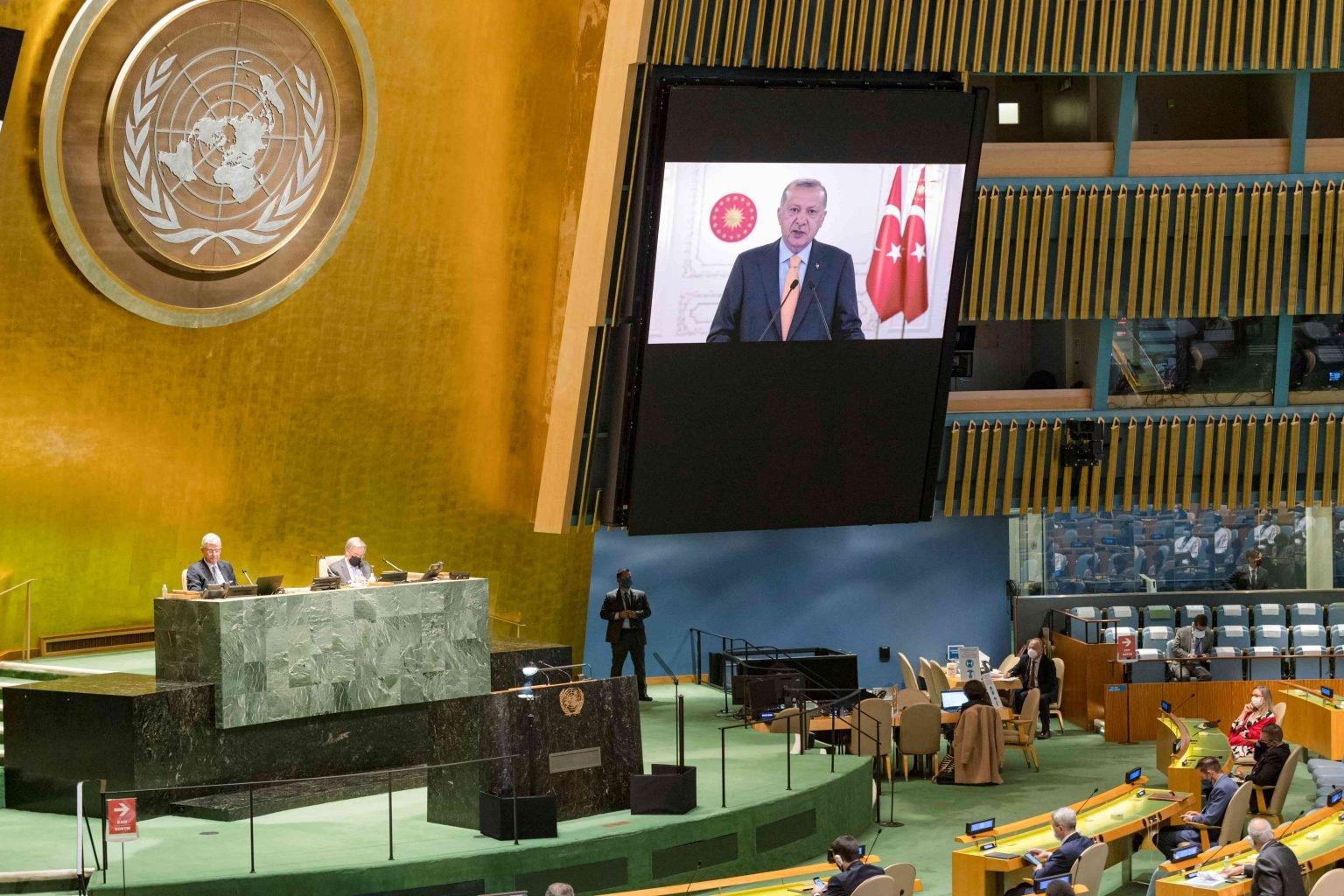 بالفيديو  ..  مندوب الكيان الصهيوني يغادر القاعة الأممية بعد كلمة الرئيس التركي رجب طيب أردوغان  ..  بماذا وصفهم؟