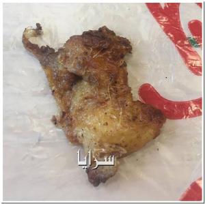 """عمان : مطعم شعبي مشهور يقدم الدجاج  مع """"ريشه"""" للزبائن  .. صورة"""