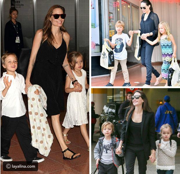 أنجلينا جولي تحرم أبناءها من الميراث