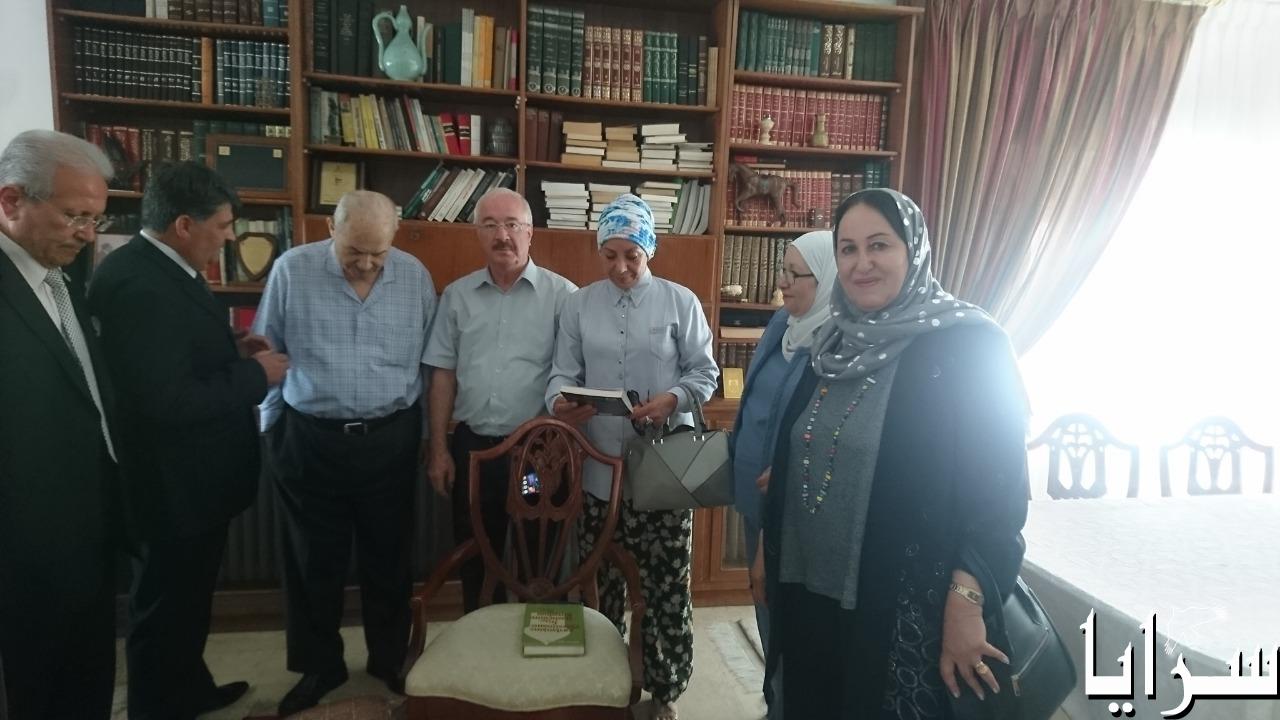 بالصور  ..  أعضاء الهيئة الإدارية لجمعية عون الثقافية يلتقون أصاحاب المعالي أبو عودة وبدران