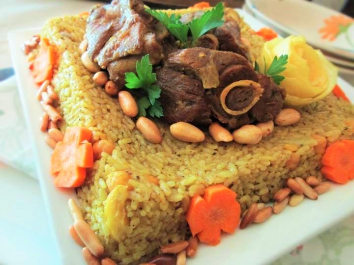 القدرة الخليلية باللحم من المطبخ الفلسطيني