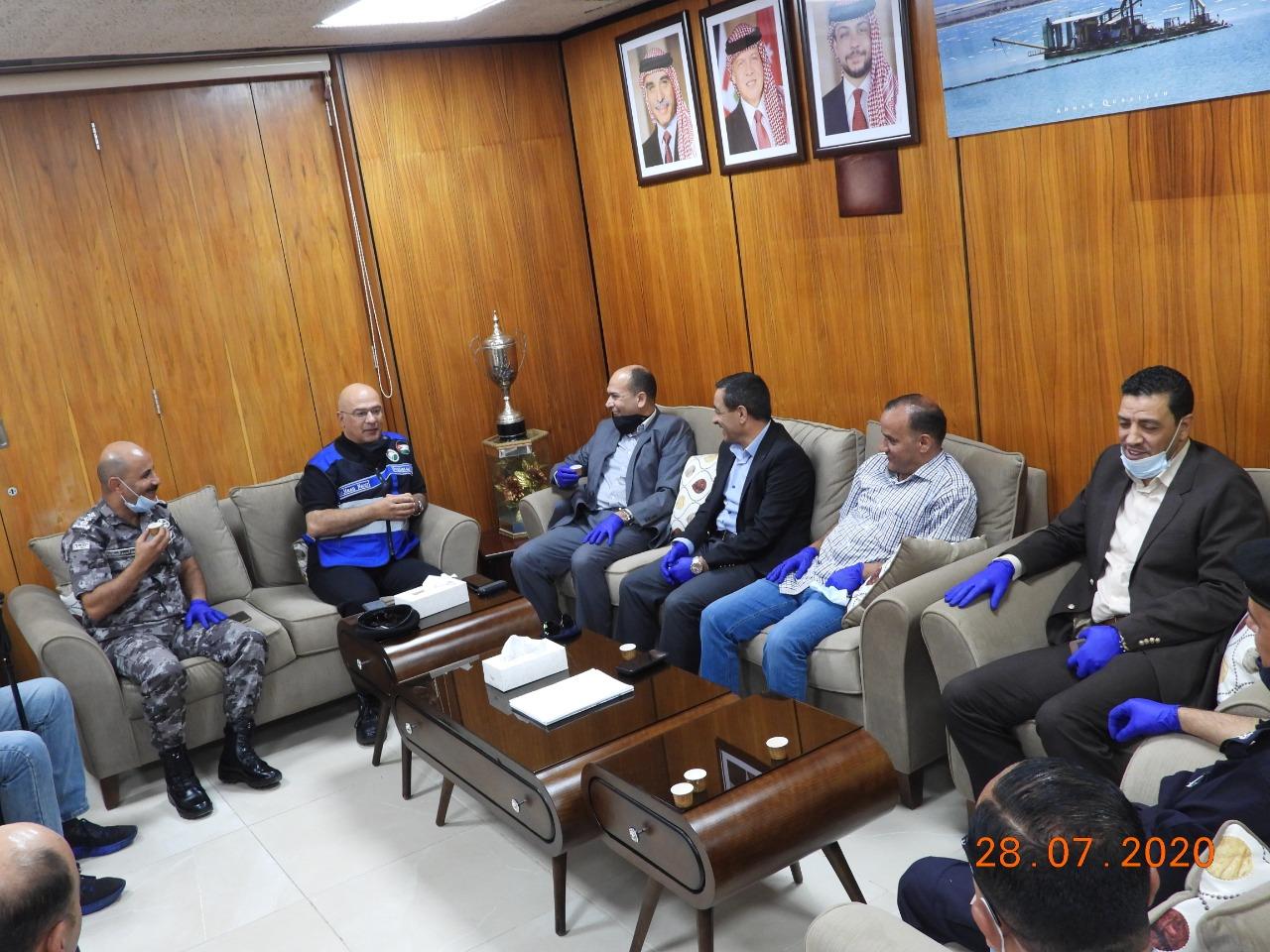 """الدكتور النسور يطلع محافظ الكرك والمجلس الأمني في المحافظة على أعمال """"البوتاس العربية وانجازاتها"""