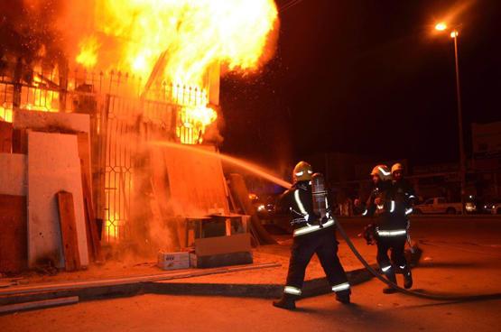 عمان: 4 إصابات بحريق في طبربور