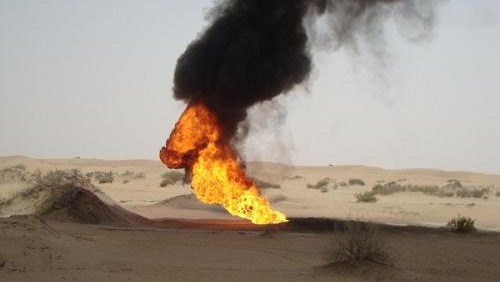 """تفجير أنبوب الغاز بسيناء الذي يغذي الأردن للمرة  الـ""""18"""""""