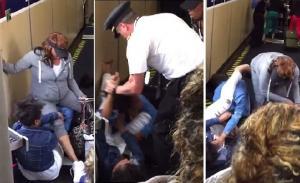 بالفيديو .. طيار يفضّ شجار  بين فتاتين بضربه إحداهما  داخل طائرة
