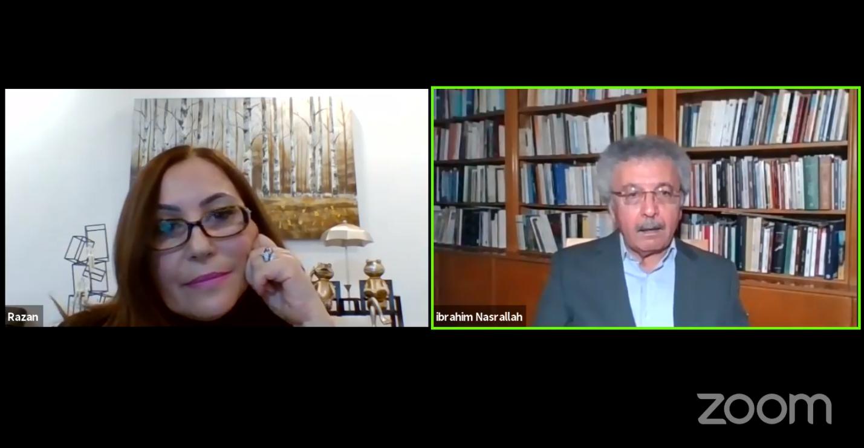 الدكتورة رزان إبراهيم تحاور الأديب الكبير إبراهيم نصر الله في قضايا الكتابة الإبداعية